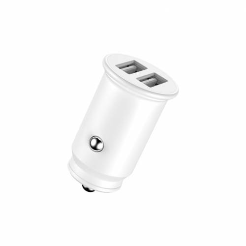 Adaptador de coche enjoy blanco 2 usb x 5v/24a