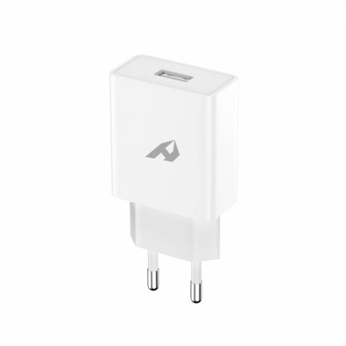 Adaptador de red enjoy 1 usb qc 30 5v/3a, 9v/2a, 12v/15a 18w max blanco