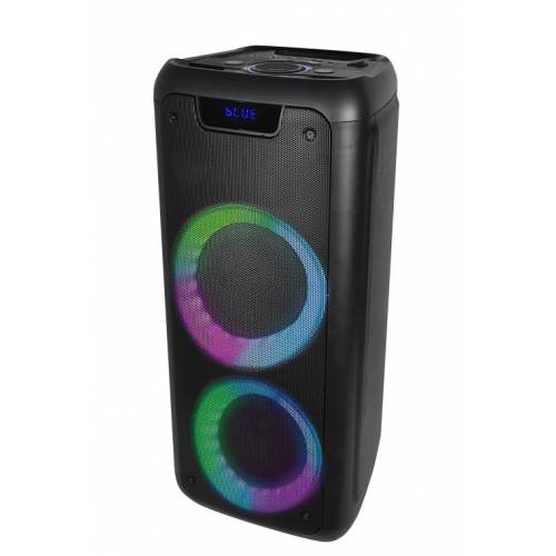 Altavoz denver bluetooth bps-350 party efectos de luz negro