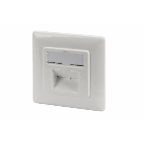 Toma pared digitus cat6a clase ea apantallada 2xrj45 empotrable blanco