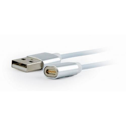 CABLE USB GEMBIRD USB 2.0 A MICRO USB/ LIGHTNING/ TIPO C 1M  MAGNETICO BLANCO