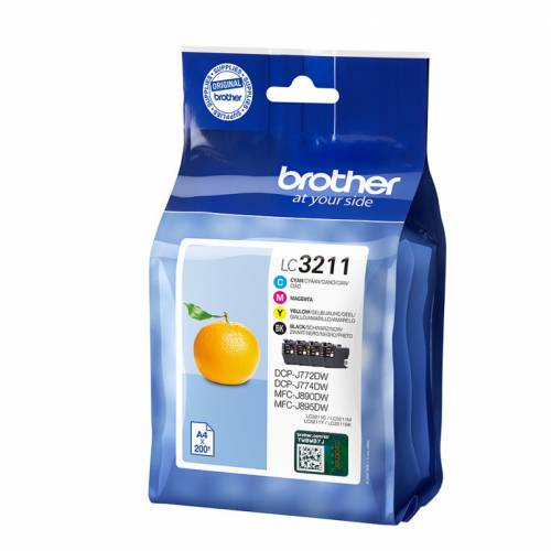 Brother tinta lc3211val pack de 4 cartuchos n,c,m,a